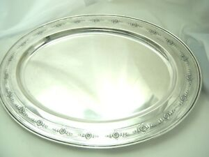 Madame D Arblay Sterling Silver 18 Large Tray Meriden Brittania 37 Ozt