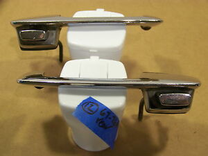 1967 76 Dodge Dart Plymouth Valiant Rear Exterior Door Handles Oem 68 69 70 71