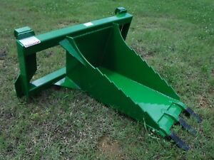 John Deere Tractor Loader Stump Bucket Dig Ditch Spade Attachment Free Ship