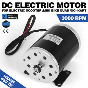 1000 W 48v Dc Electric Motor F Bicycle Bike Gokart Scooter Ty1020 Gear Reducti