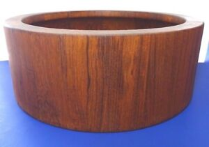 Dansk International Design Jhq Denmark Large Round Teak Wood Salad Bowl