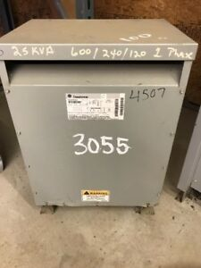 Ge 25kva Transformer 9t23b2681 600 240 120 Single Phase 3055
