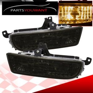 97 01 Honda Prelude Smoke Lens Fog Lights Driving Lamp Switch Harness Pair