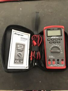 Snap On Eedm504d Auto Range Multimeter W case