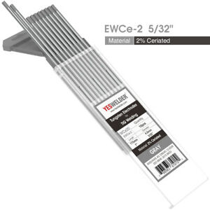 10 pk 5 32 x7 Tig Welding Tungsten Electrode 2 Ceriated gray Wc20