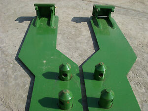 John Deere Tractor Loader Quick Tach Weld On Mounting Brackets Free Ship