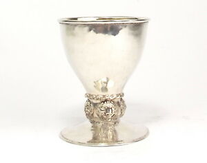 Omar Ramsden Goblet Chalice Arts Crafts Solid Sterling Silver London 1901
