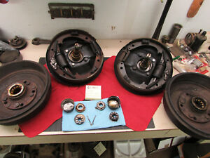1939 40 Ford Front Spindles Mid 50 S Brake Drum Hub Set 4 3 4 X 5 Chev Bolt