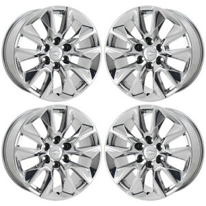 20 Chevrolet Silverado 1500 Truck Pvd Chrome Wheels Rims Factory Oem Set 96053