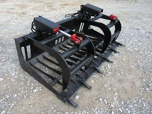 Bobcat Skid Steer Attachment 66 Rock Bucket Tooth Grapple Ship 149