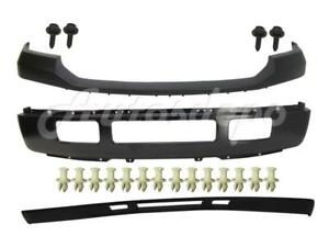 Front Bumper Blk Face Bar Pad Valance Bolt Retainer For Ford F250 F350 2005 2007