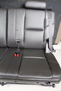 2007 2014 07 14 3rd Third Row Seat Black Leather Ebony Tahoe Yukon Suburban