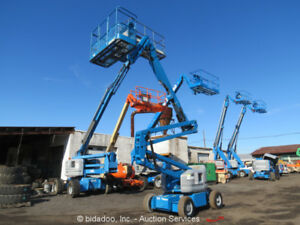 2007 Genie Z45 25 45 Electric Articulating Boom Lift Man Platform Bidadoo