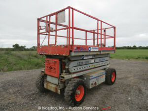 2007 Skyjack Sj7127 27 4wd Dual Fuel Rough Terrain Scissor Lift Manlift Man
