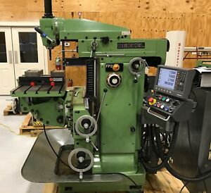 Deckel Fp2 With Universal Table And Positip 6 Axis Dro