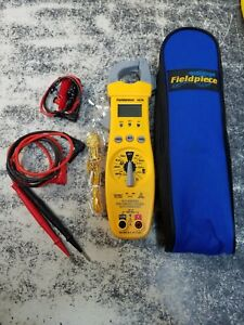 Fieldpiece Sc76 Clamp Meter Multimeter Tool Tools With Case And Leads Hvac Temp