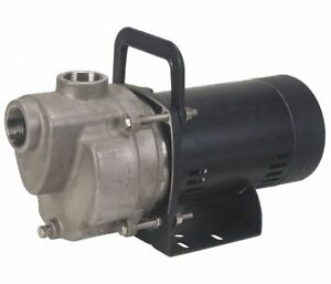 1 3hp Dayton 6gpg3a Self Priming Centrifugal Pump 115 230v Stainless Steel 750