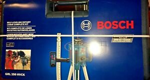 Bosch Self leveling Rotary Laser Kit Hard Case Grl250hvck Free Shipping New