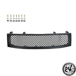 Matte Black Front Hood Grille Full Grill For 04 12 Nissan Titan 05 07 Armada