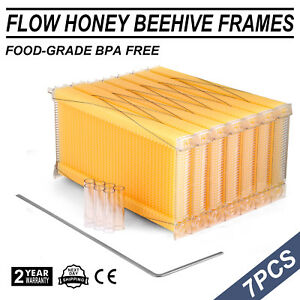 7pcs Upgraded Auto Flowing Beekeeping Bee Hive Frames For Harvest Honey