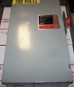 Cutler Hammer 200 Amp Fused Safety Switch 240 Vac 1 Phase 60 Hp Dh324fgk
