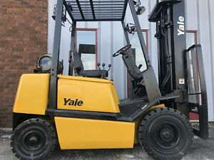 2005 Yale Glp050 5000lb Pneumatic Forklift Lift Truck
