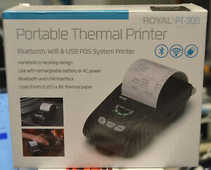 Royal Pt 300 Portable Thermal Bluetooth Wifi Usb Pos System Printer Credit Card