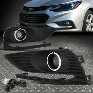For 16 18 Chevy Cruze Bumper Driving Projector Fog Light Lamps W bezel switch