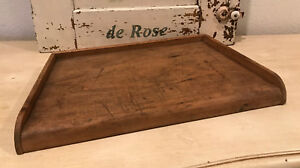 Unique Antique Vintage French Wood Cutting Chopping Board Three Galley Sides