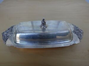 Vintage Silverplate Butter Dish By Wallace Baroque 206 No Liner