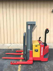 2003 Raymond Dsx40 150 Walk Behind Forklift Straddle Lift Very Nice Triple