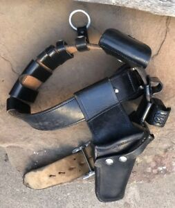 Herb Wilmeth Duty Belt Police Security Leather 38 With Accessories