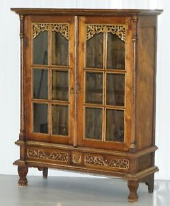 Stunning Hand Carved Antique French Louis 18th 19th Century Bookcase Cabinet