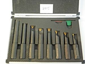 8 Pc 3 4 Round Shank Indexable Boring Bar Set new Pic 2415