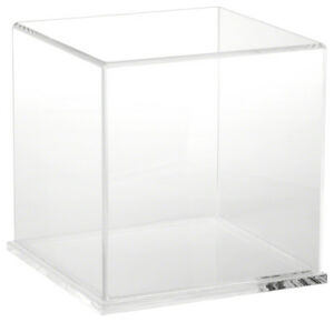 Plymor Acrylic Display Case With Clear Base 8 X 8 X 8