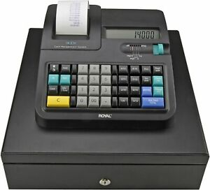 Royal 140dx Electronic Cash Register With Automatic Tax Computation Black