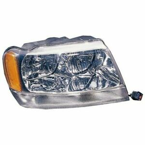 Right Headlight 99 04 Jeep Grand Cherokee Wj