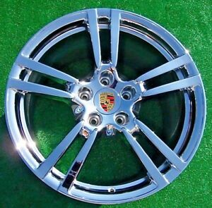 New Chrome Genuine Oem Factory Porsche Panamera Turbo Ii 2 Forged 20 Inch Wheels