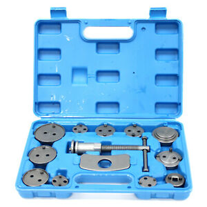 13 Pc Brake Disc Piston Push Wind Back Pad Compressor Universal Caliper Tool Kit