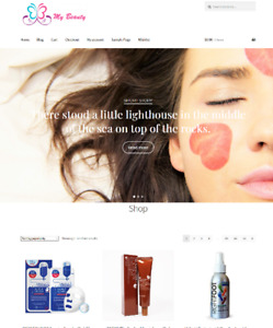 Beauty Products Affiliate Store Website Business For Sale Full Stock