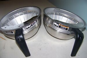 2 Bunn Ss Coffee Filter Brew Baskets With Splashguard 7 5 8 Dia Believed Nos