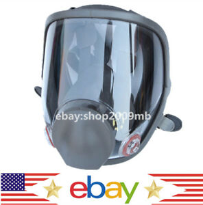 Us Large View Full Face Gas Mask Painting Spraying Respirator For 6800 Facepiece