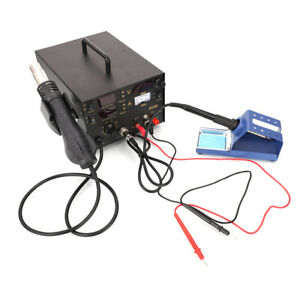 853d 3in1 Dc Power Supply Smd Rework Station Soldering Hot Air Gun Welder For Us