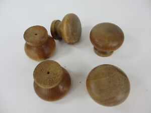 Wooden Dresser Knobs Chest Of Drawer Handles Pulls Hardware Old Retro Wood X5