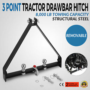 3 Point Bx Trailer Hitch Compact Tractor Universal 8000lbs Capacity Drawbar