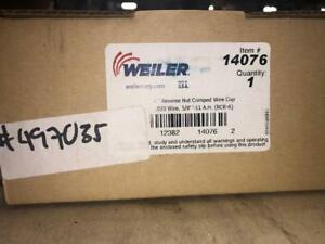 Weiler 14076 Cup Brush Crimped 6 Dia 5 8 11 Threaded 020 Fill 497035