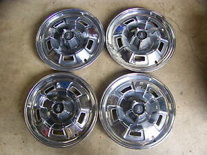 1967 68 69 Plymouth Barracuda 14 Hub Caps Wheelcovers Fury Valiant Deluxe 4