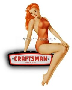 Craftsman Tool Sticker Perky Girl Sexy Decal Mechanic Toolbox Sign Chest Usa