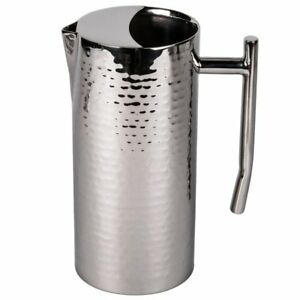American Metalcraft Elite Water Pitcher Stainless Steel 64 Oz Hammered Finish
