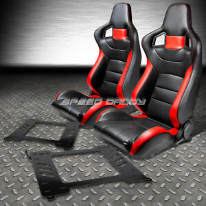 Pvc Leather High Head Red Racing Seats Bracket For 99 05 Bmw E46 3 Series M3